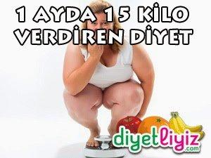 1 Ayda 15 Kilo Verdiren Etkili Diyet Listesi !