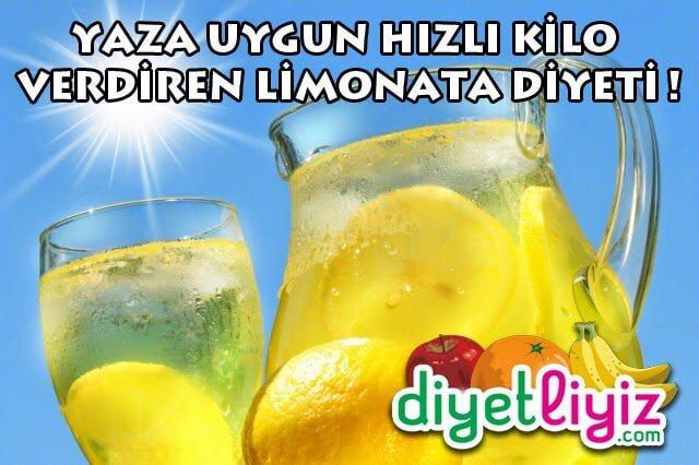 Limonata Diyeti ile Hızlı Kilo Verin !
