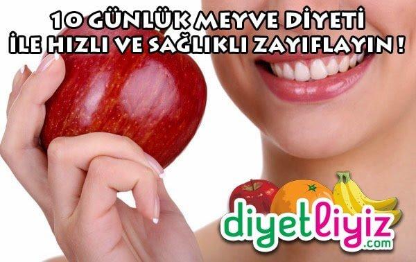 10 Günlük Meyve Diyeti ile zayıflayın