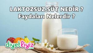 Laktozsuz sütün faydaları